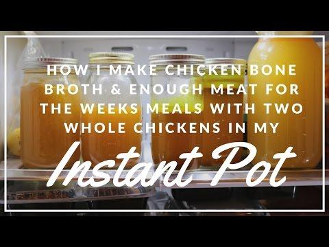 Chicken Bone Broth in Instant Pot