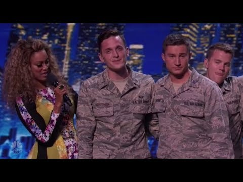 Air-Force Military Vocal Group Get All The Women Very EXCITED! America's Got Talent 2017