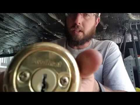 Re Key a Double Keyed Kwikset Cylinder, 2 Sets Of Screws To Remove Kwickset