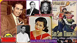 TALAT & SUDHA Malhotra-Film-SIM SIM MARJINA-{1957}i ~Chandni Hai BheegiBheegi Raat Hai-[ TRIBUTE ]