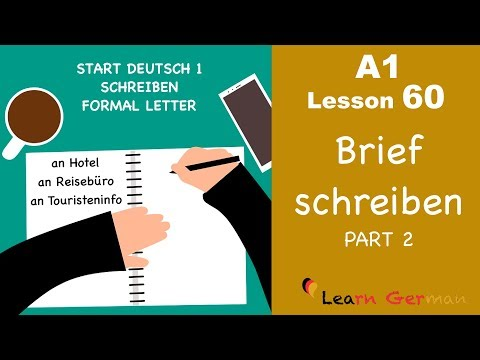 How To Start A Professional Letter In German