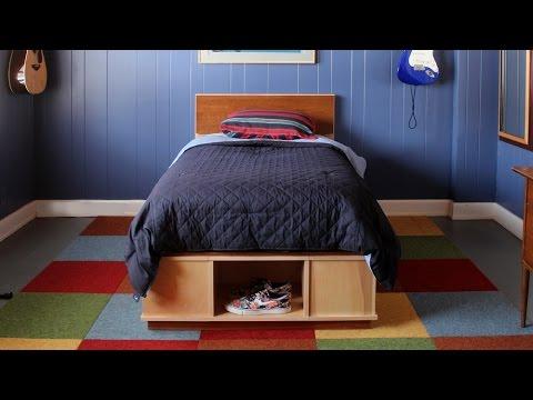 Build a Platform Bed with Storage - Short Version