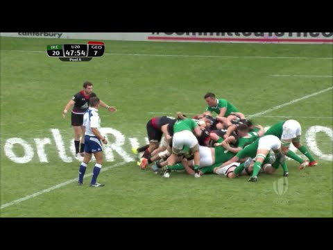 Georgia U20 'monster scrum' squashes Ireland pack