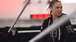 Ronda Rousey trains for four hours straight at WWE