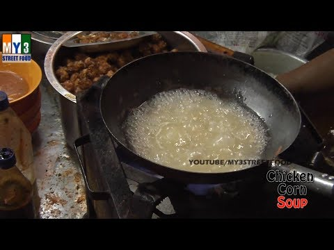 Sweet Corn Chicken Soup - Indo Chinese Recipes street food