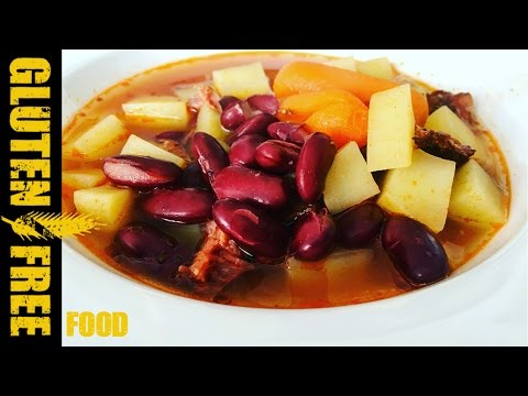 Traditional Slovak bean soup
