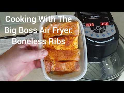 Cooking With The Big Boss Air Fryer: Country Style Boneless Ribs