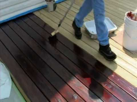 Applying One TIME Wood Protector