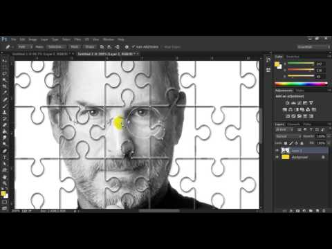 Puzzle image making in photoshop cc