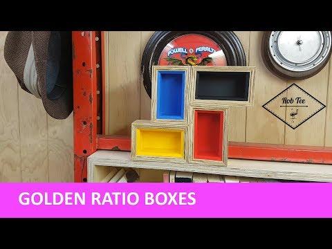 Golden ratio boxes