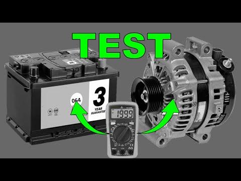 How To TEST Car Alternator & Car Battery