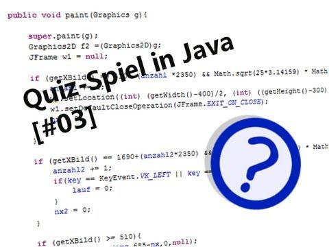 Let's make a Quizgame / Quizspiel [Java] (#03) [German] [HD]