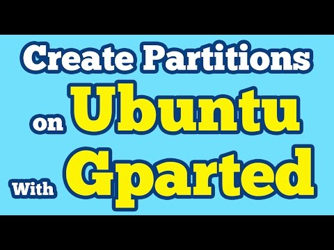 Gparted Tutorial Ubuntu | Create New Partitions of Hard Disk Drive with Gparted Partition Editor