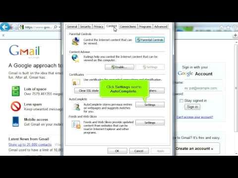 Managing Saved Passwords in Internet Explorer - Video Tutorial
