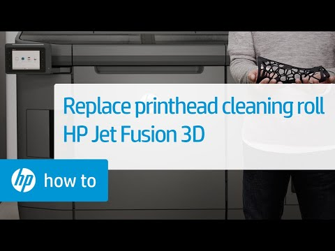 Replacing the Printhead Cleaning Roll on the HP Jet Fusion 3D Printer
