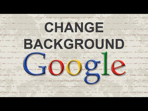 How to change Google background