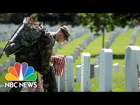 President Donald Trump Speaks At Memorial Day Ceremony | NBC News