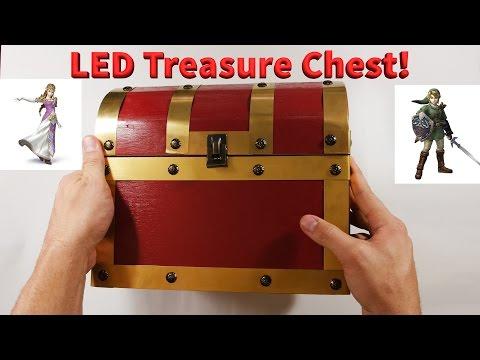 Adding LED lights to the Zelda  treasure chest - DIY - GeekifyGuys