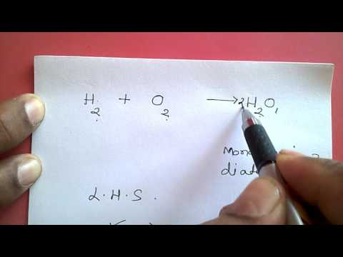Video - How to balance chemical reaction for water formation