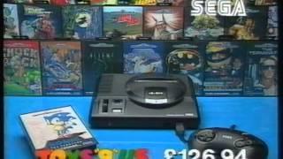 Toys R Us UK TV Advert 1992 (TSW Region) Featuring Sega Mega Drive