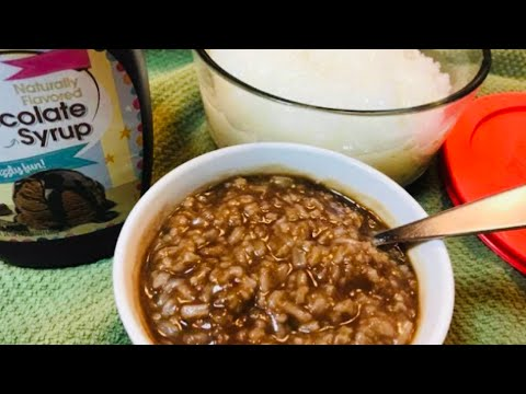 HOW TO COOK LUGAW W/O STIRRING  with CHAMPORADO / RICE CHOCOLATE PORRIDGE recipe