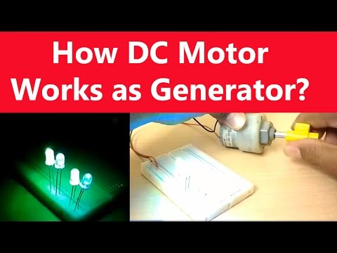 How DC Motor Works as Generator? | Turn DC Motor Into Electricity Generator