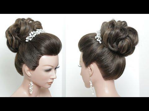 Wedding Prom Updos: Perfect Bun. Hair Tutorial.