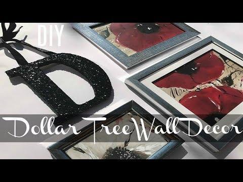 DIY DOLLAR TREE WALL DECOR IDEA | EASY TO MAKE PERSONALIZED DECOR