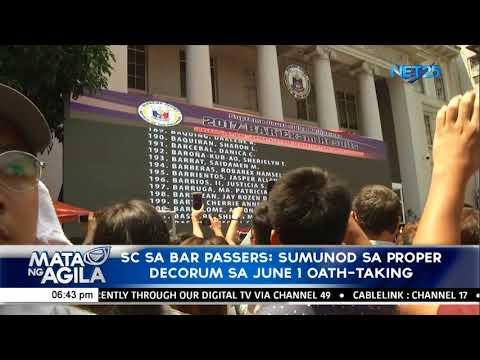 SC sa bar passers:  Sumunod sa proper decorum sa June 1 oath-taking