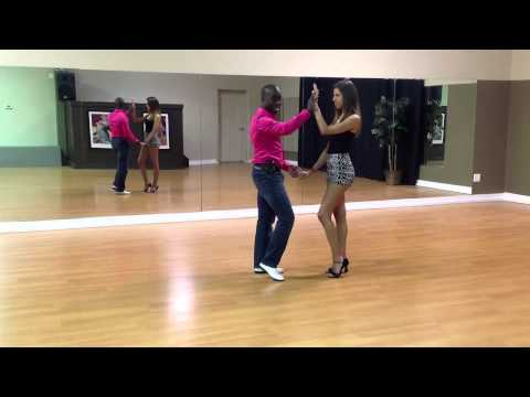 Bachata Dance - Hammer Lock Double Handed Turns - Learn Dance Online