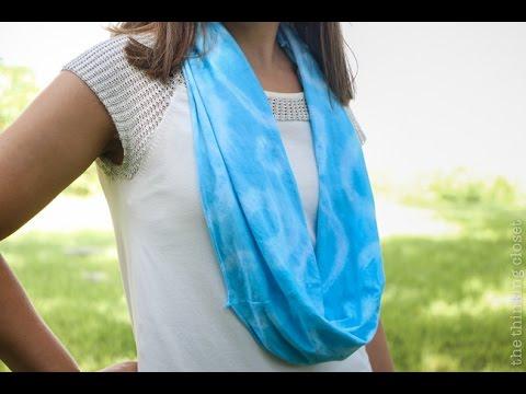 T-Shirt to Tie-Dye Infinity Scarf: D.I.Y. Tutorial