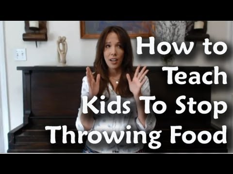 How To Teach Kids To Stop Throwing Food
