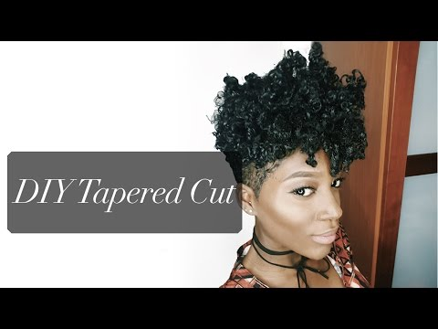 Natural Hair Style: Updated DIY TAPERED CUT TUTORIAL| BIG CHOP NUMBER 2