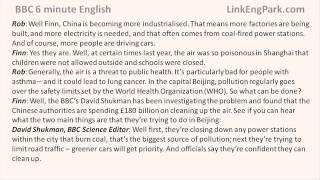 BBC 6 minute English   Air pollution in China transcript video