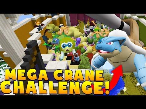 MEGA EVOLUTIONS POKEMON PIXELMON CRANE GAME MODDED BATTLE - Minecraft MEGA Pokemon Modded MINIGAME