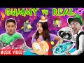 GUMMY vs REAL 🎵 Raptain Hook (FV FAMILY GUMMY FOOD vs REAL FOOD CHALLENGE Sis vs Bro) Music Video