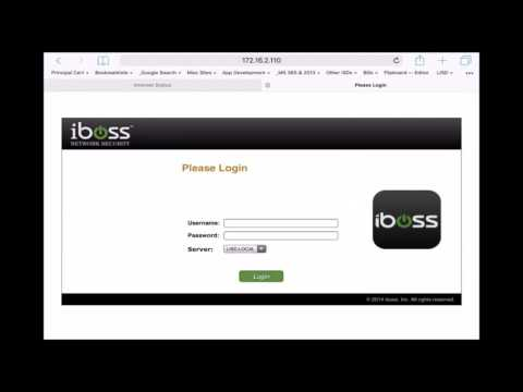 iBoss Authentication HOW TO