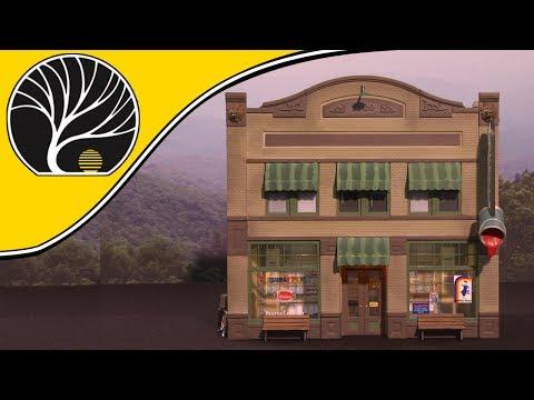 Dugan's Paint Store – N, HO, O Scale | Built-&-Ready® | Woodland Scenics | Model Scenery