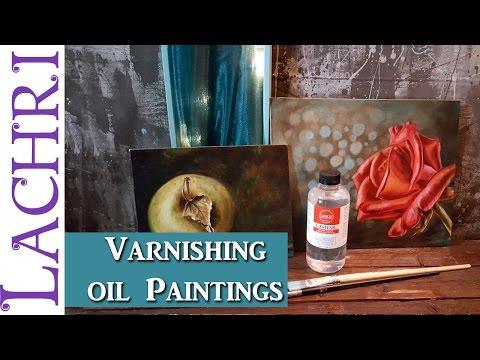 How I varnish oil paintings w/ Lachri