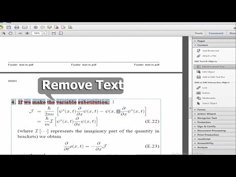 PDF Tutorial- How to Delete or Remove Text from pdf by using adobe acrobat pro