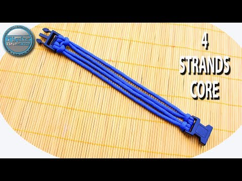 How To Make 4 Strands Paracord Bracelet Core