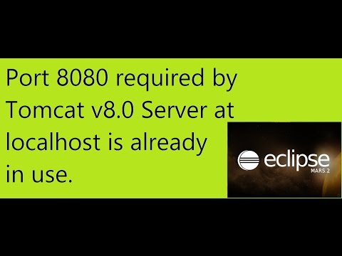 100% resolve Port 8080 required by Tomcat v8.0 Server at localhost is already in use  in eclipse