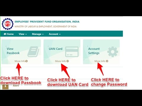 UAN Login uan portal login to download passbook