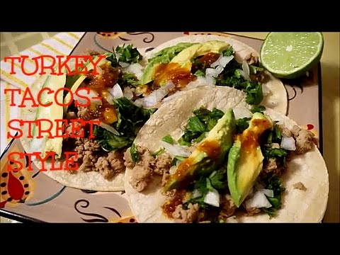 GROUND TURKEY TACOS-STREET STYLE