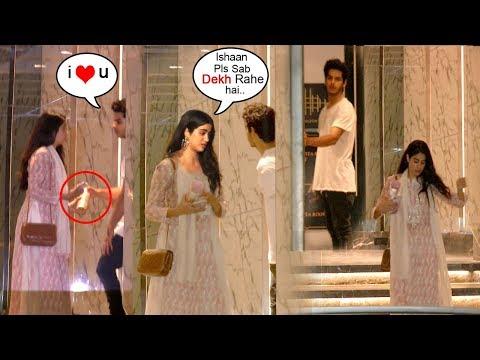 Sridevi's Daughter Jhanvi Kapoor FIGHTS With Boyfriend Ishaan Khattar (Shahid's Brother) In Public