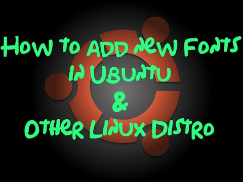 How to add new fonts in Ubuntu and other Linux Distro