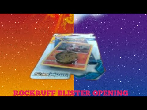 Pokemon Sun and Moon Rockruff Blister Pack Opening