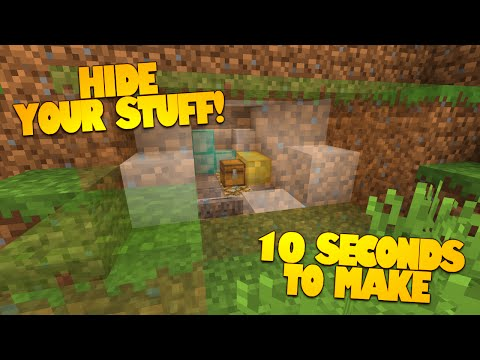 Minecraft Redstone   How to Make a Secret Room in 10 Seconds!   HIDDEN ROOMS! (Minecraft Redstone)
