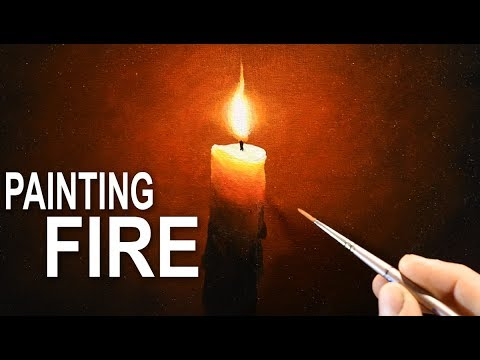 Painting Light or Fire with Acrylics