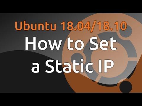 Ubuntu 18.04/18.10 Set Static IP
